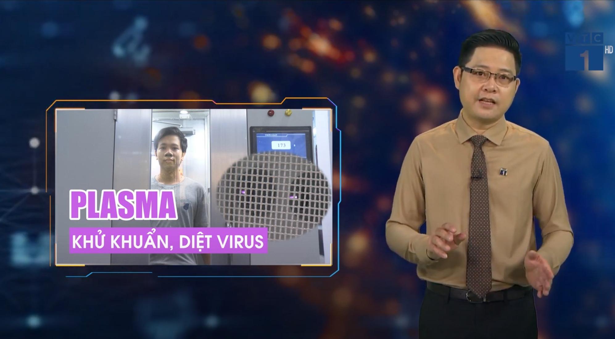 """Phóng sự VTC ngày 16/09/21 """"Nhà khoa học Việt tiên phong làm buồng hấp Plasma khử khuẩn, diệt Virus"""""""